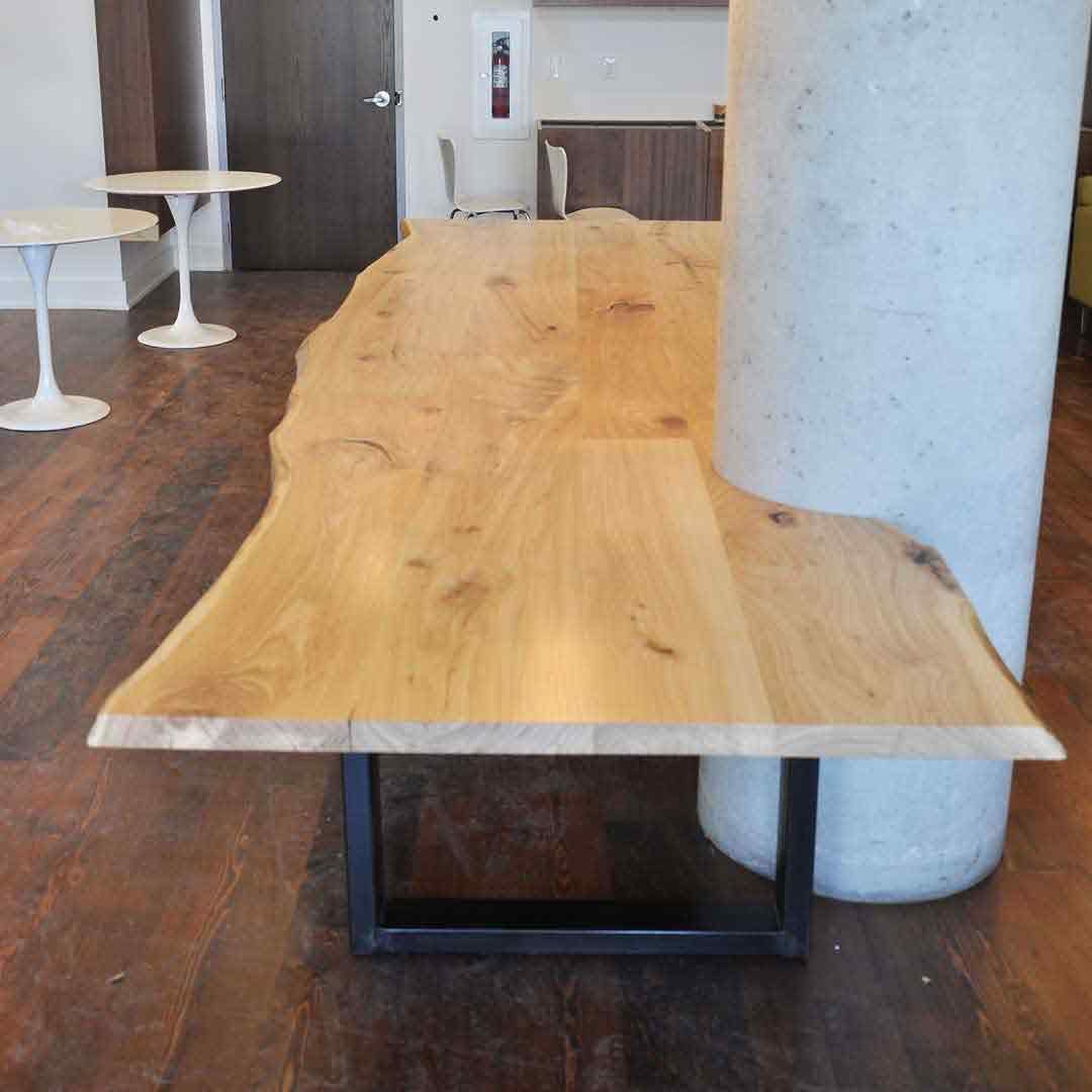 Commercial live edge table