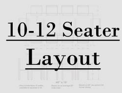 10 foot table seating layout