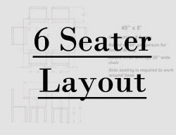 5 foot table seating layout