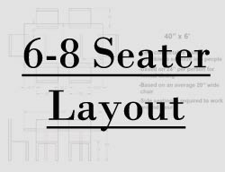 6 foot table seating layout
