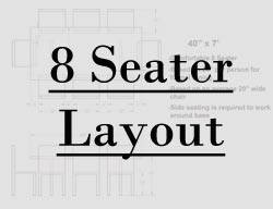 7 foot table seating layout