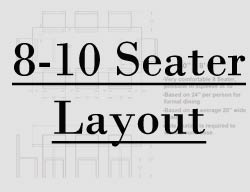 8 foot table seating layout