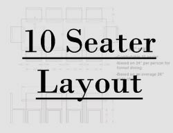 9 foot table seating layout